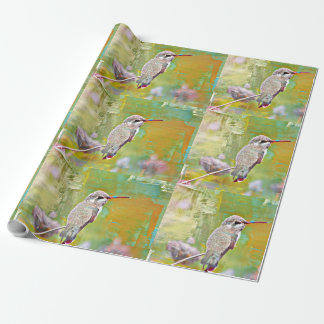 Matte Wrapping Paper - Pastel Hummer in Yellow