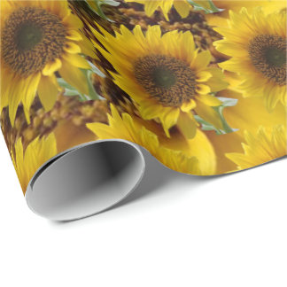 Matte wrapping sunflower paper