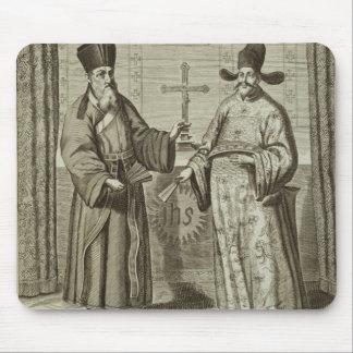 Matteo Ricci (1552-1610) and Paulus Li, from 'Chin Mouse Pad