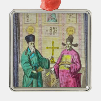 Matteo Ricci  and another Christian Christmas Ornament