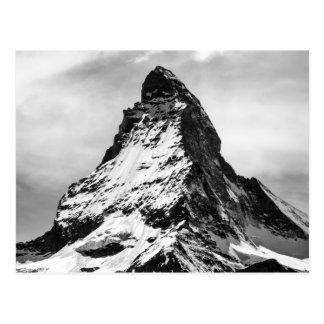 Matterhorn, Alps black and white Postcard