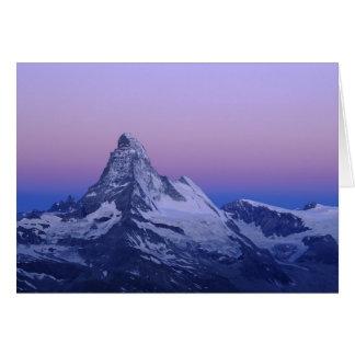 Matterhorn at dawn, Zermatt, Swiss Alps, Card