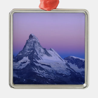 Matterhorn at dawn, Zermatt, Swiss Alps, Christmas Ornament