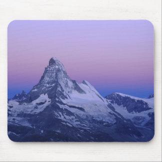 Matterhorn at dawn, Zermatt, Swiss Alps, Mouse Mat