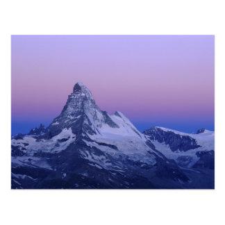 Matterhorn at dawn, Zermatt, Swiss Alps, Postcard