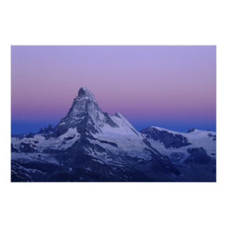 Matterhorn at dawn, Zermatt, Swiss Alps, Poster