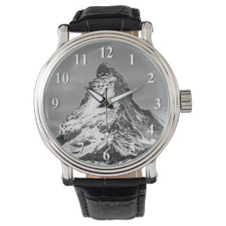 Matterhorn Black and White with Numbers Watch