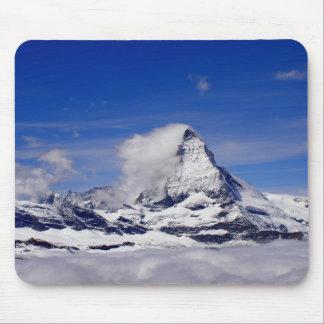 Matterhorn in a sea of cloud in Switzerland Mouse Pad