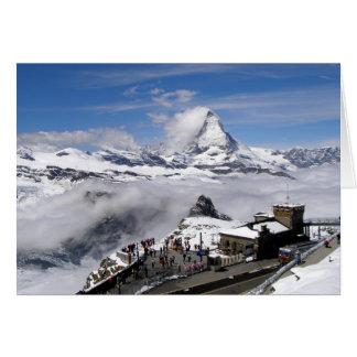 Matterhorn mountain and Gornergrat station Greeting Cards