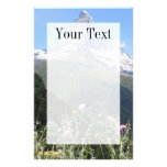 Matterhorn mountain in spring writing paper personalised stationery