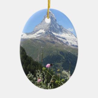 Matterhorn Mountain photo Ceramic Oval Decoration