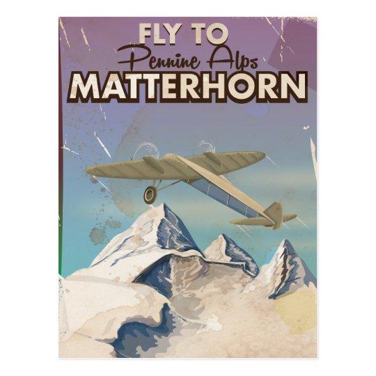 Matterhorn, Pennine Alps Vintage Travel poster Postcard