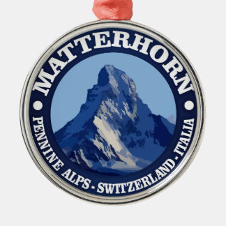 Matterhorn (rd) Silver-Colored round decoration