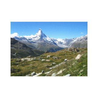 Matterhorn, Swiss Alps Wrapped Canvas