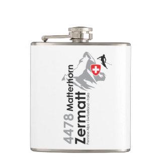 Matterhorn-Zermatt skiing Hip Flask