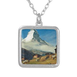 Matterhorn, Zermatt, Switzerland Silver Plated Necklace