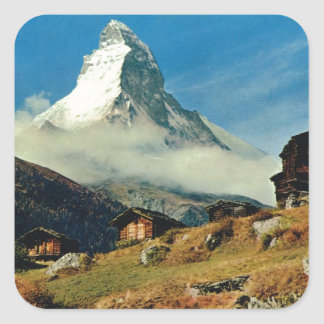 Matterhorn, Zermatt, Switzerland Square Sticker