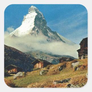 Matterhorn, Zermatt, Switzerland Square Sticker