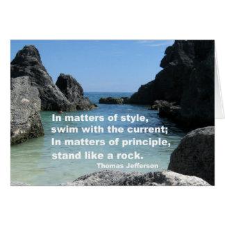 Matters of principle... greeting card