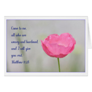 Matthew 11:28 Greeting Card