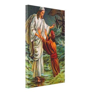 Matthew 14:28-33 Lord, Save Me Canvas Canvas Print