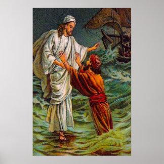 Matthew 14:28-33 Lord, Save Me Poster