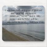 Matthew 17:20 - Motivational Inspirational Quote Mouse Mats