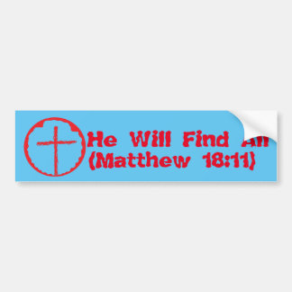 Matthew 18:11 bumper sticker