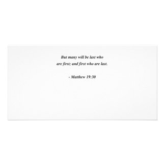 MATTHEW 19:30 PICTURE CARD