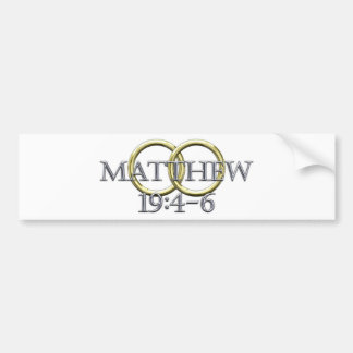 Matthew 19:4-6 bumper sticker