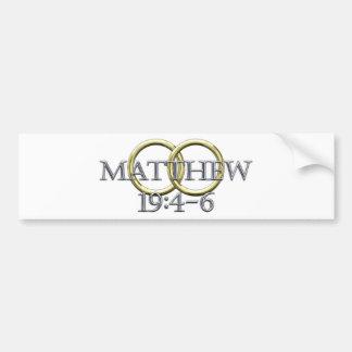 Matthew 19:4-6 bumper sticker