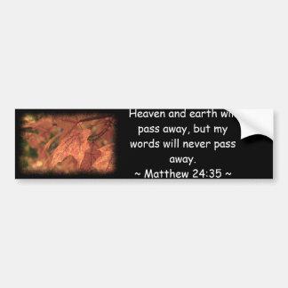 Matthew 24:35 car bumper sticker