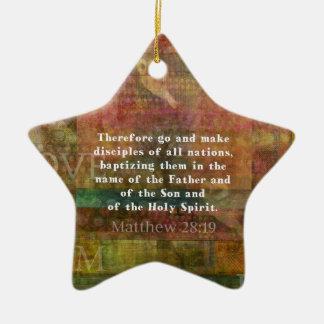Matthew 28:19  Bible Verse Christmas Ornament