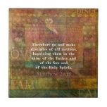 Matthew 28:19  Bible Verse Tiles