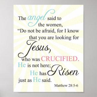 Matthew 28:5-6 poster