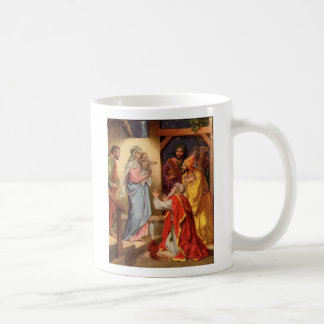 Matthew  2  11, They saw the young child with M... Basic White Mug