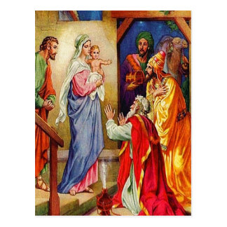 Matthew 2 1-12 Wise Men Travel to Jesus postcard