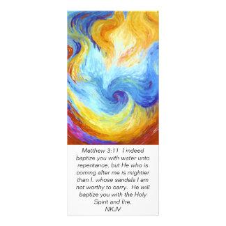 Matthew 3:11 Holy Spirit Dove scripture card Full Color Rack Card
