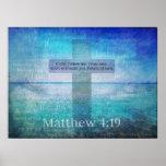 Matthew 4:19 Fishers of Men Bible Verse Posters
