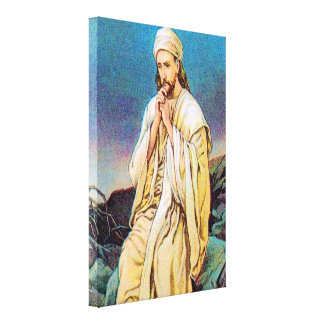 Matthew 4:1-11 Satan Tempts Jesus Wrapped Canvas Gallery Wrap Canvas