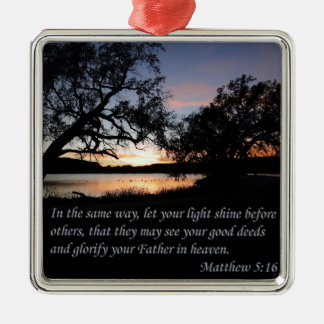 Matthew 5:16 Let Your Light Shine Christmas Ornament