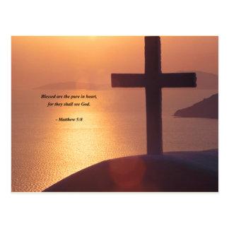 MATTHEW 5:8 POSTCARD