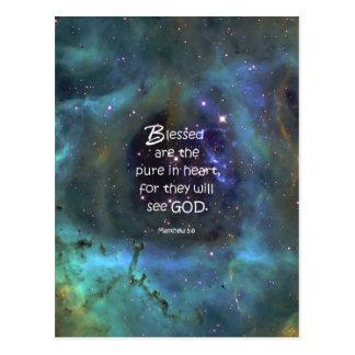 Matthew 5:8 postcards