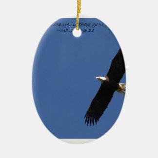 Matthew 621 Eagle w frame.jpg Ceramic Oval Decoration