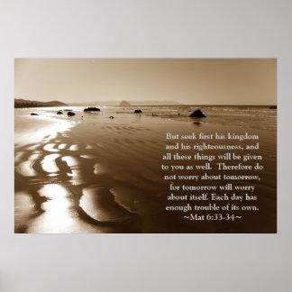 Matthew 6:33- 34 Poster