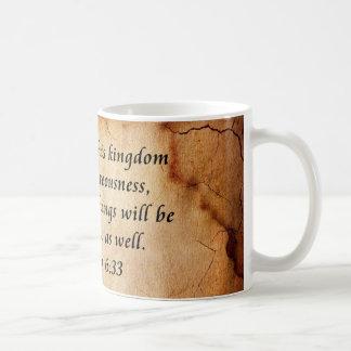 Matthew 6:33 Bible Verse Coffee Mug