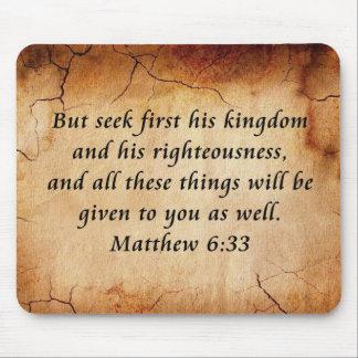 Matthew 6:33 Bible Verse Mouse Mat