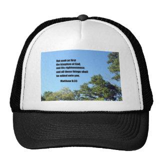 Matthew 6:33 trucker hats