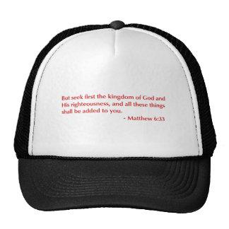 Matthew-6-33-opt-burg.png Trucker Hats