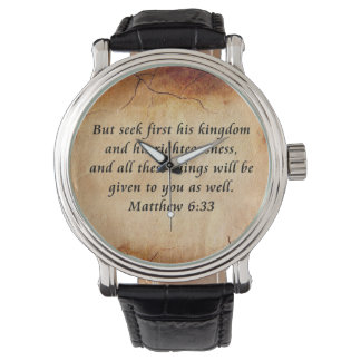 Matthew 6:33 watch